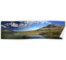 Panorama of beautiful scenery in Sweden Poster