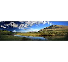 Panorama of beautiful scenery in Sweden Photographic Print