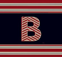 BROOKLINER BOSTON 1920s MONOGRAM initial  B by CecelyBloom