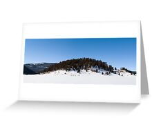 Snowshoeing in the Caldera Greeting Card