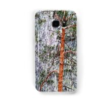 28.2.2015: Pine Trees and Sleet I Samsung Galaxy Case/Skin