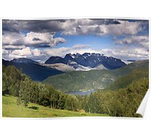 Norway landscape mountains Poster