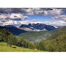Norway landscape mountains Photographic Print