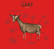 Anatomy of a Goat One Piece - Short Sleeve