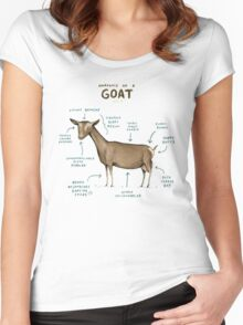 Anatomy of a Goat Women's Fitted Scoop T-Shirt