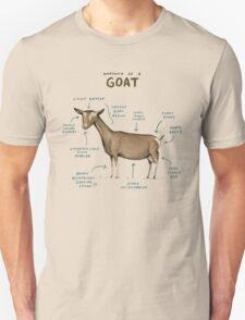 Anatomy of a Goat Unisex T-Shirt