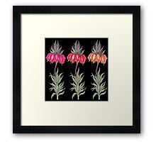 three flower Framed Print