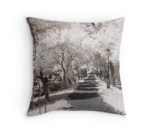 Infrared path Throw Pillow