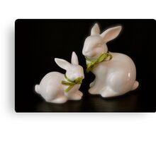 Ceramic Bunnies Canvas Print