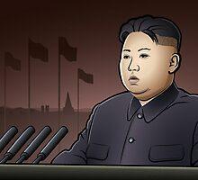 Portrait Kim Jong-un Art by RBSTORESSX