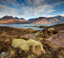 The mountains of Upper Loch Torridon by Martin Lawrence