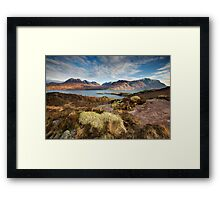 The mountains of Upper Loch Torridon Framed Print