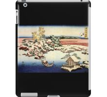 'Winter Landscape of Suda' by Katsushika Hokusai (Reproduction) iPad Case/Skin