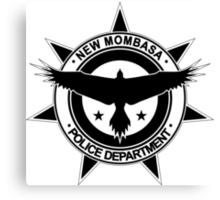 Halo, New Mombasa Police Department logo Canvas Print