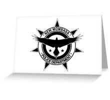 Halo, New Mombasa Police Department logo Greeting Card