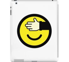 Shy emoticon iPad Case/Skin