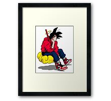 Saiyan Kicks Framed Print