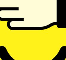 Shy emoticon Sticker