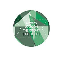 Bright Side of Life - emeralds Photographic Print