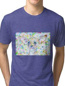 CHIHUAHUA - watercolor portrait Tri-blend T-Shirt