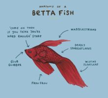 Anatomy of a Betta Fish Kids Clothes