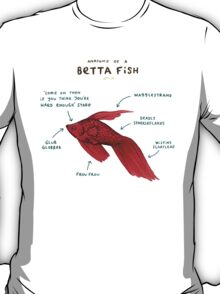 Anatomy of a Betta Fish T-Shirt