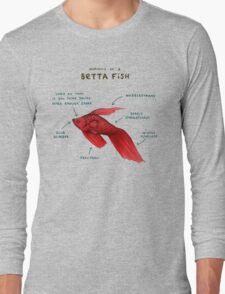 Anatomy of a Betta Fish Long Sleeve T-Shirt