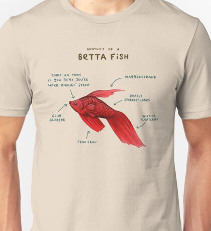 Anatomy of a Betta Fish Unisex T-Shirt
