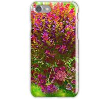 Painted Red Bush iPhone Case/Skin