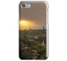 Stormy Sunset from Calton Hill, Edinburgh iPhone Case/Skin