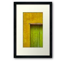Puerta Verde Framed Print