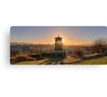 Sun Setting over Edinburgh Canvas Print