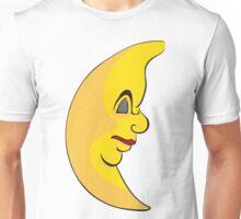 Serious sleeping moon Unisex T-Shirt