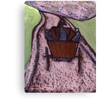 Runaway Horse and Cart Canvas Print