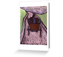 Runaway Horse and Cart Greeting Card