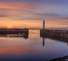 Newhaven lighthouse in the Gloaming by Miles Gray