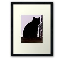 Watching For Mom (print only) Framed Print