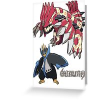 Andy W's Primal Groudon & Empoleon Greeting Card