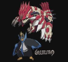 Andy W's Primal Groudon & Empoleon by eevilmurray