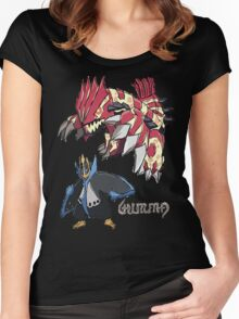 Andy W's Primal Groudon & Empoleon Women's Fitted Scoop T-Shirt