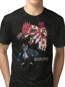 Andy W's Primal Groudon & Empoleon Tri-blend T-Shirt