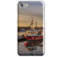 Newhaven Fishing Boat and Lighthouse iPhone Case/Skin