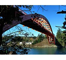 Rainbow Bridge La Conner Photographic Print