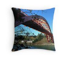 Rainbow Bridge La Conner Throw Pillow