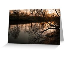 Sunset on a Spring Day Greeting Card