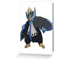 Andy W's Empoleon Greeting Card