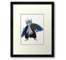 Andy W's Empoleon (No outline) Framed Print