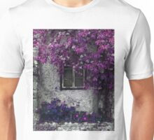 Orchid Vines, Window and Gray Stone Unisex T-Shirt
