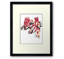 Andy W's Primal Groudon (No outline) Framed Print