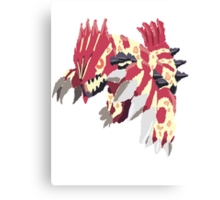 Andy W's Primal Groudon (No outline) Canvas Print